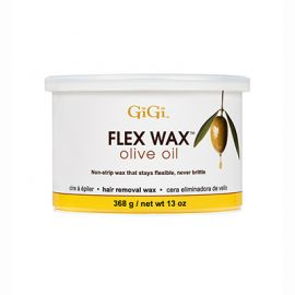 Front of GiGi Flex Wax Olive Oil 13 oz can.