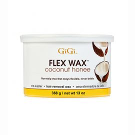 Front view of GiGi Coconut Honee Flex Hard Wax 13oz Can