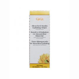 GiGi, Bleached Muslin Epilating Strips, Small, 100 Pack