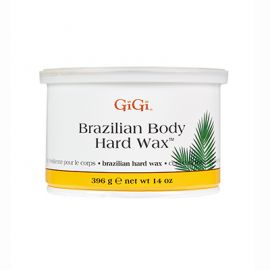 Front view of GiGi Brazilian Hard Body Wax Can 14oz size.