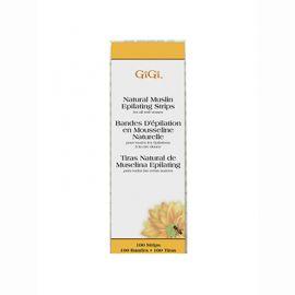GiGi, Natural Muslin Strips, Small, 100 Pack